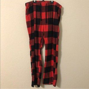 Old Navy Red and Black Plaid Pajama Pants
